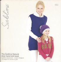 682 - The Sublime  Natural Aran Hand Knit Book